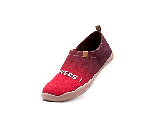 Les Amoureux Des Femmes Uin Peint Toile Glisser Sur La Chaussure Rouge