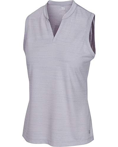 - Three Sixty Six Women's Sleeveless Collarless Golf Polo Shirt - Dry Fit, Breathable, Compression Golf Tops