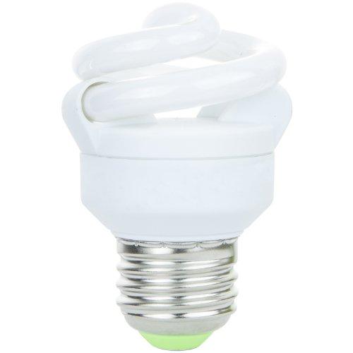 Spiral Mini 25w - Sunlite SMS5F/27K 5 Watt Super Mini Spiral Energy Saving CFL Light Bulb Medium Base Warm White