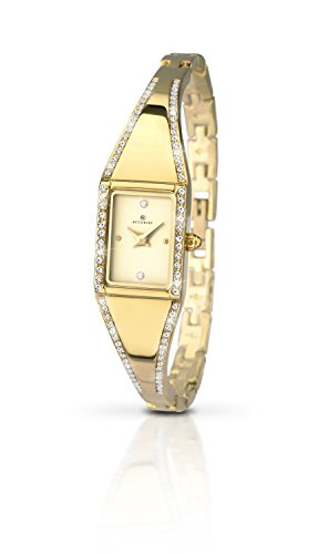 Accurist Ladies Analogue Watch With Gold Stone Set Case 8024
