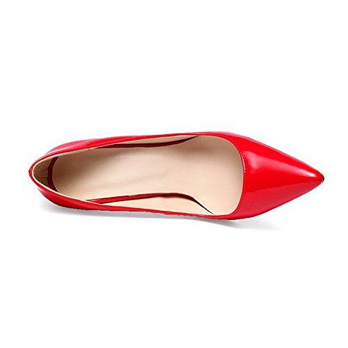 Balamasa Damer Fast Pådraglackläder Pumpar-shoes Röda