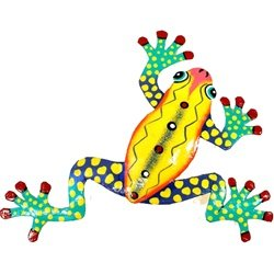 Ten Inch Metal Yellow Frog
