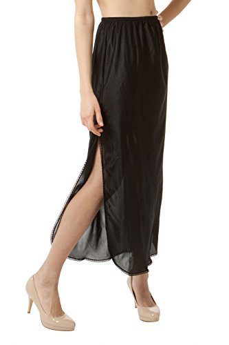 "BellaSous Luxury Double Slit Half Slip Underskirt - 38"" - 100% Nylon w/Lace"