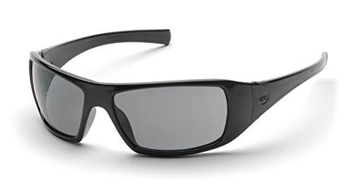 - Pyramex Goliath Safety Eyewear, Black Frame, Gray Lens