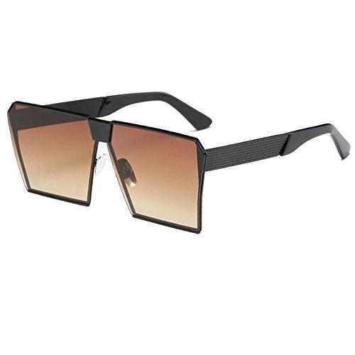Lens Special Men Luxury Sunglasses tea Unisex Frame Street Women Black Oversize UV Square Sun Eyewear Protection Fashion Glasses Sunglasses FxRq8U