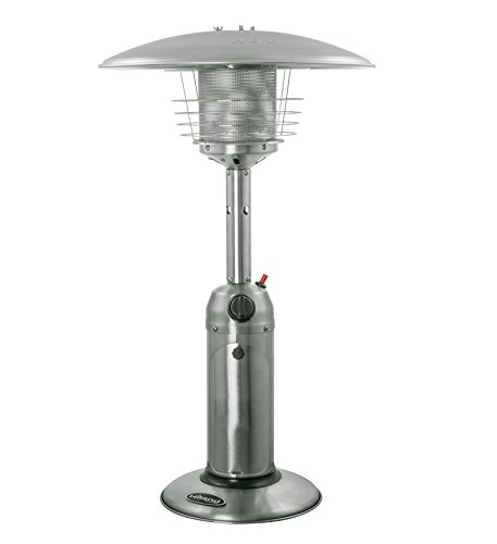 Outdoor Patio Gas Heater (AZ Patio Heaters HLDS032-B Portable Table Top Stainless Steel Patio Heater, Stainless Finish)