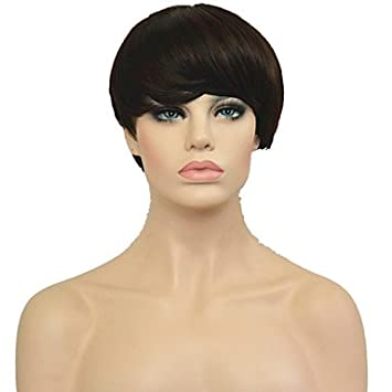 OOFAY JF® Peluca de 2016 nuevas pelucas baratas cortos para las mujeres negras Pixie cortan