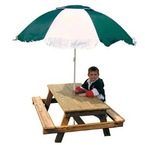Gorilla Playsets Kids Picnic Table and Umbrella by Gorilla Playset Accessories