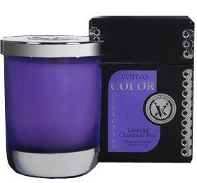 Votivo Color Collection 6.1 oz Candle Lavender Chamomile Pear
