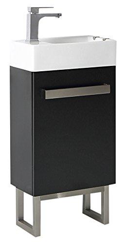 - Ove Decors MICA 18 Single Space Saver Bathroom Vanity, Black