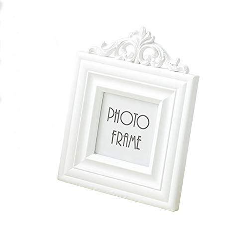 AMHOME Picture Frame 3x3 Square Resin and Wood Frame Creativity Design (Frames 3x3)