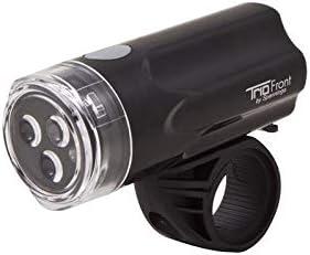 Trio Front Bike Cycle 3 LED Headlight Handlebar Light Black 3 Function Spanninga