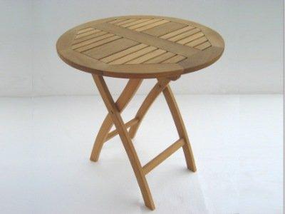 Atlanta Teak Furniture - Teak Folding Caf' Table - Grade-A (Teak Atlanta)