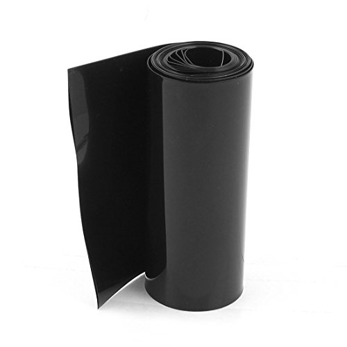 Uxcell a15012900ux0395 85 mm/55 mm PVC HEAT Shrink Tubing Wrap Black 2M for 18650 Battery Pack