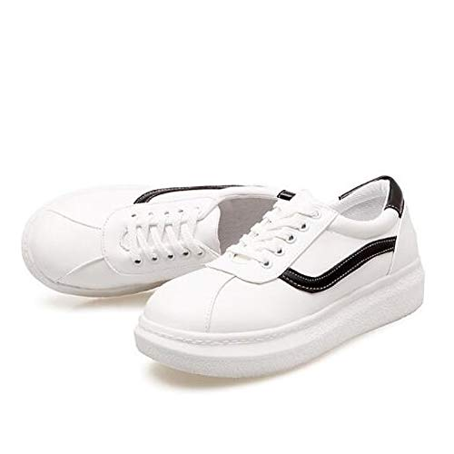 poliuretano da Punta Nero donna Rosa Sneakers ZHZNVX Green PU Tacco Estate chiusa Primavera Comfort Scarpe piatto Verde qwAxR5I
