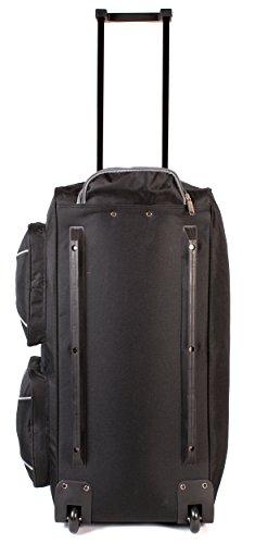 KS-100–27pulgadas Tamaño Grande Negro y Gris con ruedas Bolsa de viaje con asa