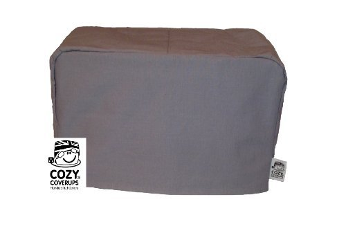 CozyCoverUp for Dualit Toasters 100% cotton Handmade in the UK (Gunmetal Grey, 4 Slice Clasic New Gen)