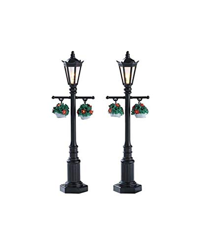 Lemax Village Collection Accessory, Old English Lamp Post, Set of 2, #74231 (Christmas Post Village Lamp)