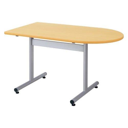 生興 テーブル FGX型会議用テーブル W1200×D750×H700/脚間L732 T字脚タイプ 片R FGX-1275KR ホワイト B015XOLETSホワイト