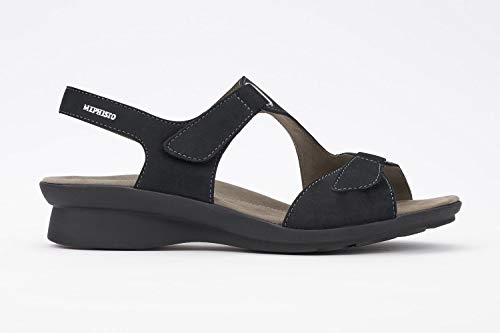 Mephisto Nubuck Sandals - Mephisto Women's Paris Sandals Black Nubuck 38 (US Women's 8)