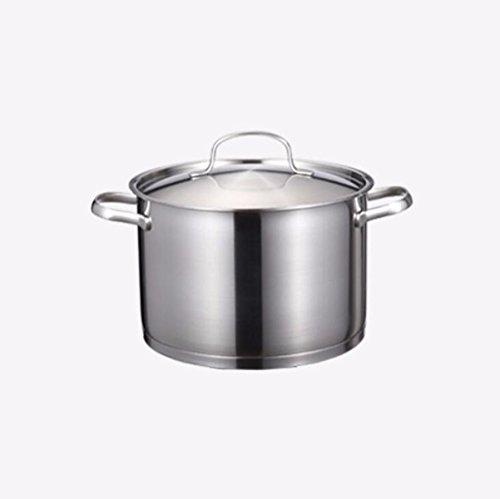 Gjhh Cocinero de la Sopa Olla 24cm de Acero Inoxidable sin revestir Cocina Honda Gas para el Día de la Madre del Regalo del...