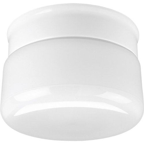 - Progress Lighting P3516-30 White Glass with Snap-In Fitter Globe, White