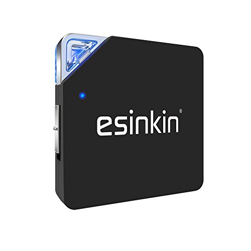 Bluetooth Receiver and Transmitter, Esinkin Bluetooth 2 in 1 Transmitter Receiver, Wireless Bluetooth Audio Adapter for Stereo System, Headphones, PC and MP3 Players