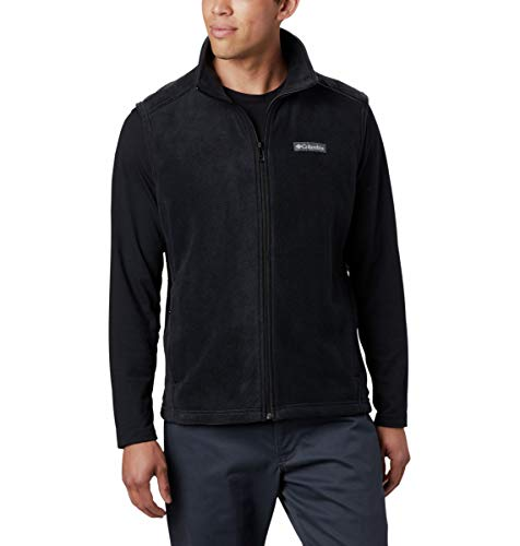 Fleece Black Vest - Columbia Men's Steens Mountain Full Zip Soft Fleece Vest, Black, Medium