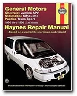 GM Chevrolet Lumina APV, Oldsmobile Silhouette, Pontiac Trans Sport Automotive Repair Manual: 1990
