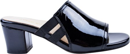 Taryn Rose Dames Rimba Slide Sandaal Zwart Lakleder