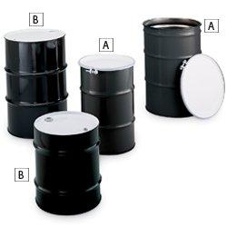 Closed Head Steel Drums (Skolnik Carbon Steel Drums - Closed-Head Drums - 30-Gal. Capacity - Black)