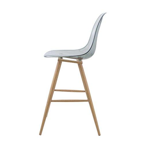 prego barrio_1_t_blk chaise haute scandinave style tabouret de bar barrio transparent noir x 1 prego noir blanc amazonfr cuisine maison - Chaises Hautes Scandinaves