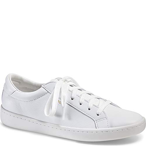 Keds Women's Ace Leather Fashion Sneaker, White/White, 7.5 M US by Keds