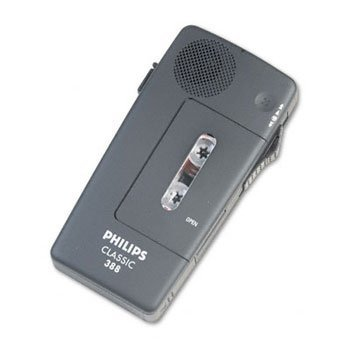 PSPLFH038800B - Pocket Memo 388 Slide Switch Mini Cassette Dictation Recorder