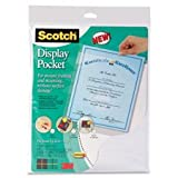 Display Pocket, Removable Fasteners, 9''x11'', Clear Plastic Qty:12
