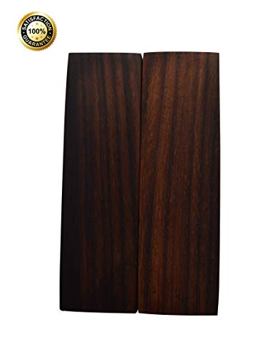 (Konak Wood Products Knife Scales - All-Natural and Genuine Exotic Knife Scales for Knife Making - Measures 5 x 1½ x 3/8 inches - 2 Wood Knife Scales/Gun Grips/Craft Supplies (Indian Rosewood))