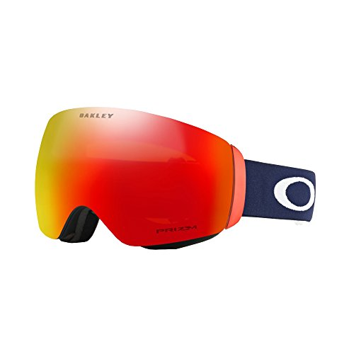 (Oakley Flight Deck XM Snow Goggles, USOC Blazing Eagle Frame, Prizm Torch Iridium Lens, Medium)