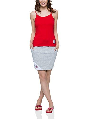 Nebulus Top Bianca Rojo
