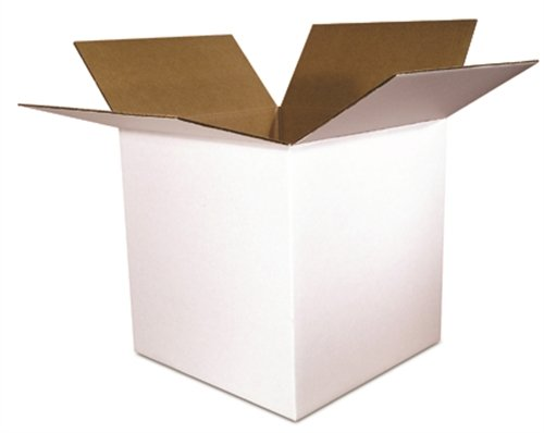 The Packaging Wholesalers Shipping Boxes, 4 x 4 x 4 Inches, White, 25-Count (BS040404W)