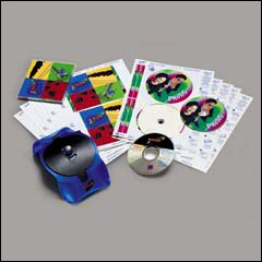 amazon com avery 30 labels 08844 glossy clear cd dvd labels for