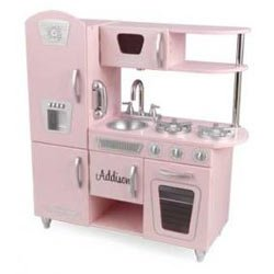 KidKraft Pink Vintage Kitchen Kids Pretend Play Set and Accessories | 53179 by KidKraft