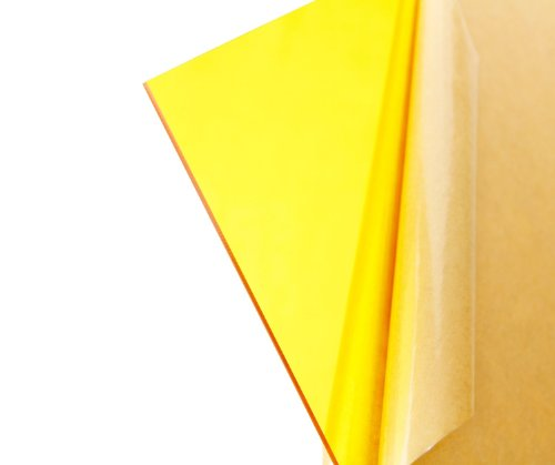 "Cast Acrylic Sheet - .118"" Thick, TP Yellow, 12"" x 12"" Nominal"