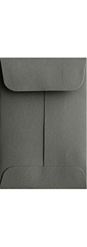 #1 Coin Envelopes (2 1/4 x 3 1/2) - Smoke Gray (250 Qty.) | Perfect for Weddings, Parties & Place Cards | Fits Small Parts, Stamps, Jewelry, Seeds | Mini / Crafting Envelopes | 80lb Text Paper