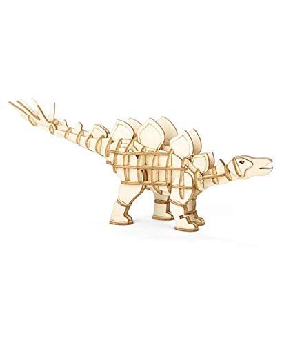 Stegosaurus 3D Wooden Assembly Puzzle by Kikkerland