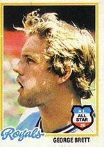 (1978 Topps Regular (Baseball) Card# 100 George Brett of the Kansas City Royals ExMt)