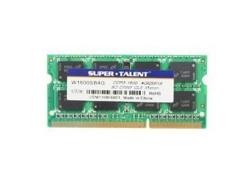 Super Talent 4GB DDR3 PC-12800 1600MHz 204-Pin Notebook Memory Model W1600SB4G