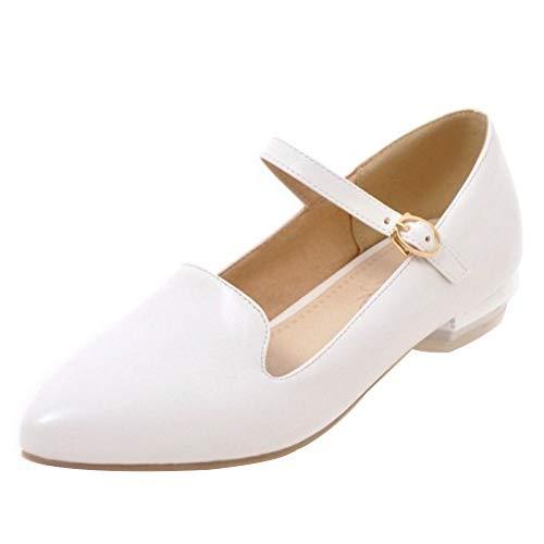 Les Femmes Melady Confort Bout Pointu Chaussures Plates Blanc