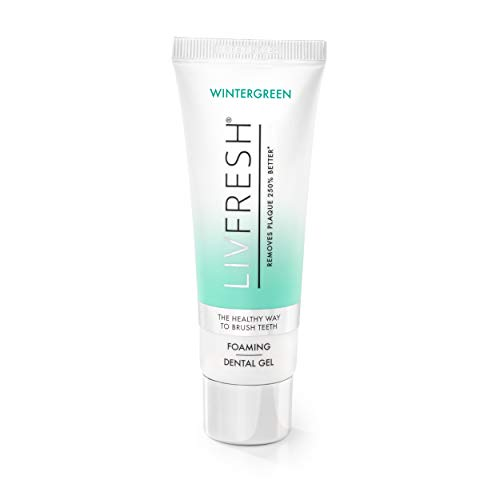 LIVFRESH Dental Gel by Livionex - Clinically Proven to Remove Plaque 250% Better (Foaming + Wintergreen + Blue Gel) (Best Toothpaste For Plaque)