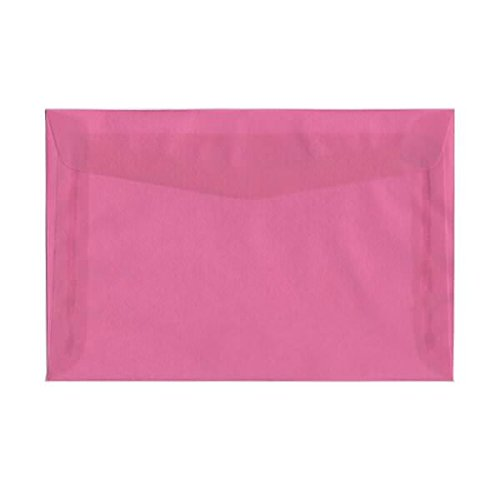 (JAM PAPER 6 x 9 Booklet Translucent Vellum Envelopes - Rosebud - 25/Pack)