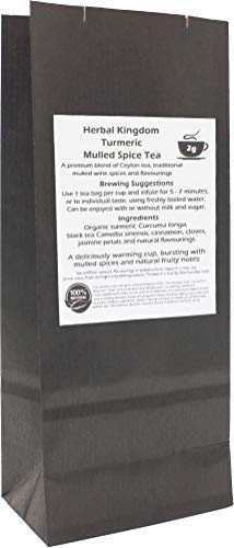 Organic Turmeric and Mulled Spice Tea Herbal Tea Bags (25 pack - unbleached)